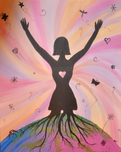 image of woman with outstretched arms